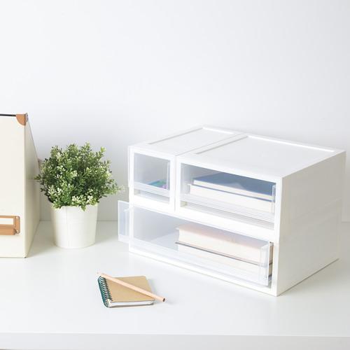 組合式抽屜盒系列, , 半透明白色