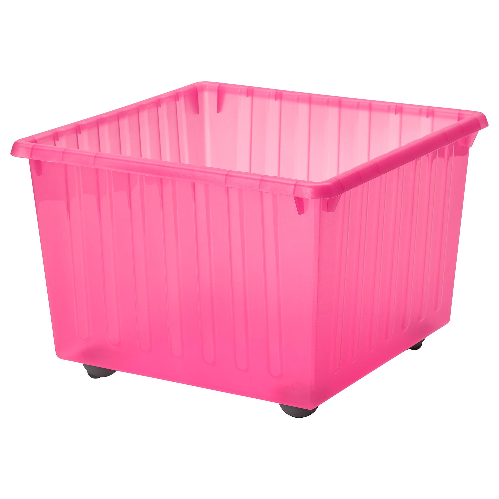 附輪腳收納盒, , 淺粉紅色, 另有其他顏色可選擇