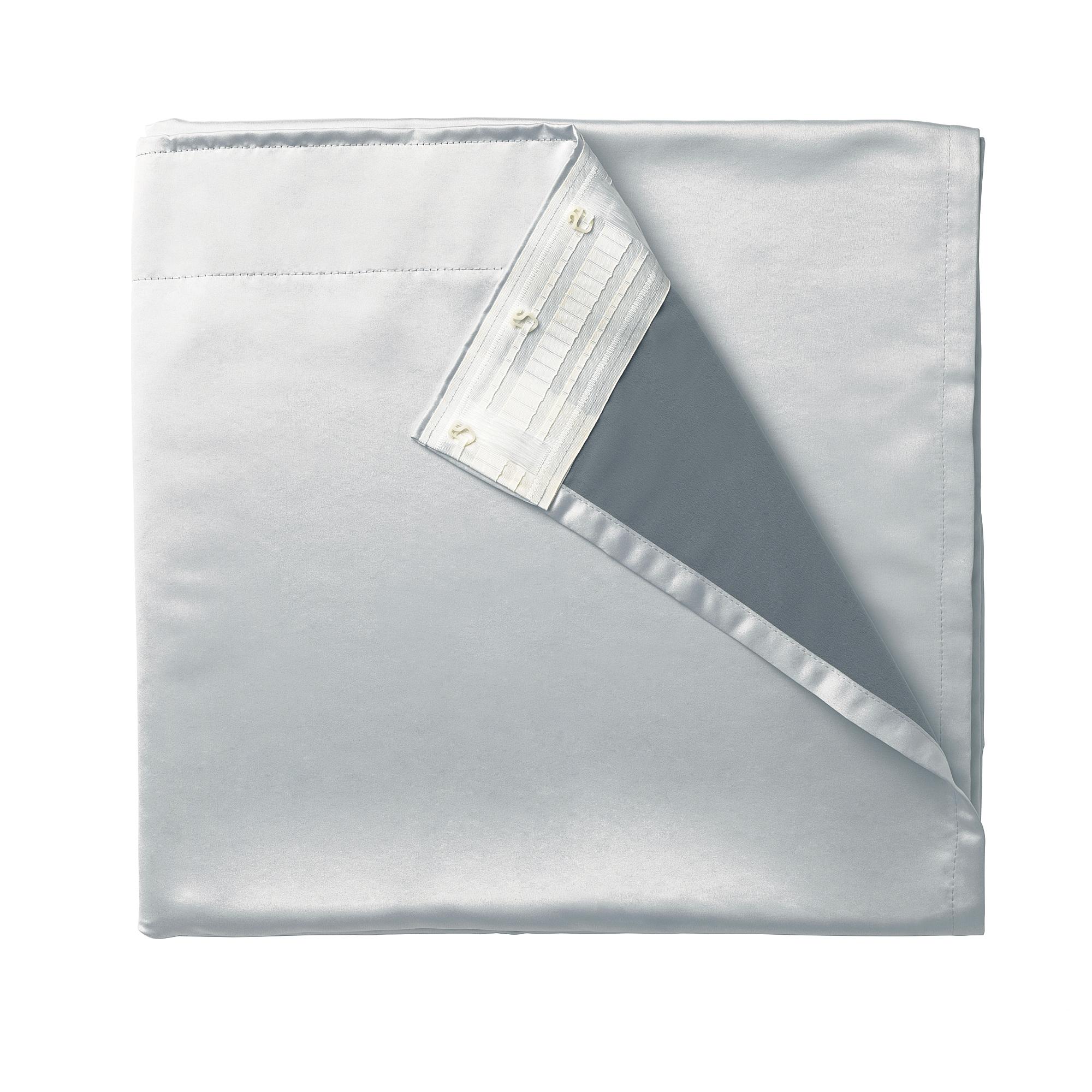 窗簾襯裡布 /2件裝, , 淺灰色