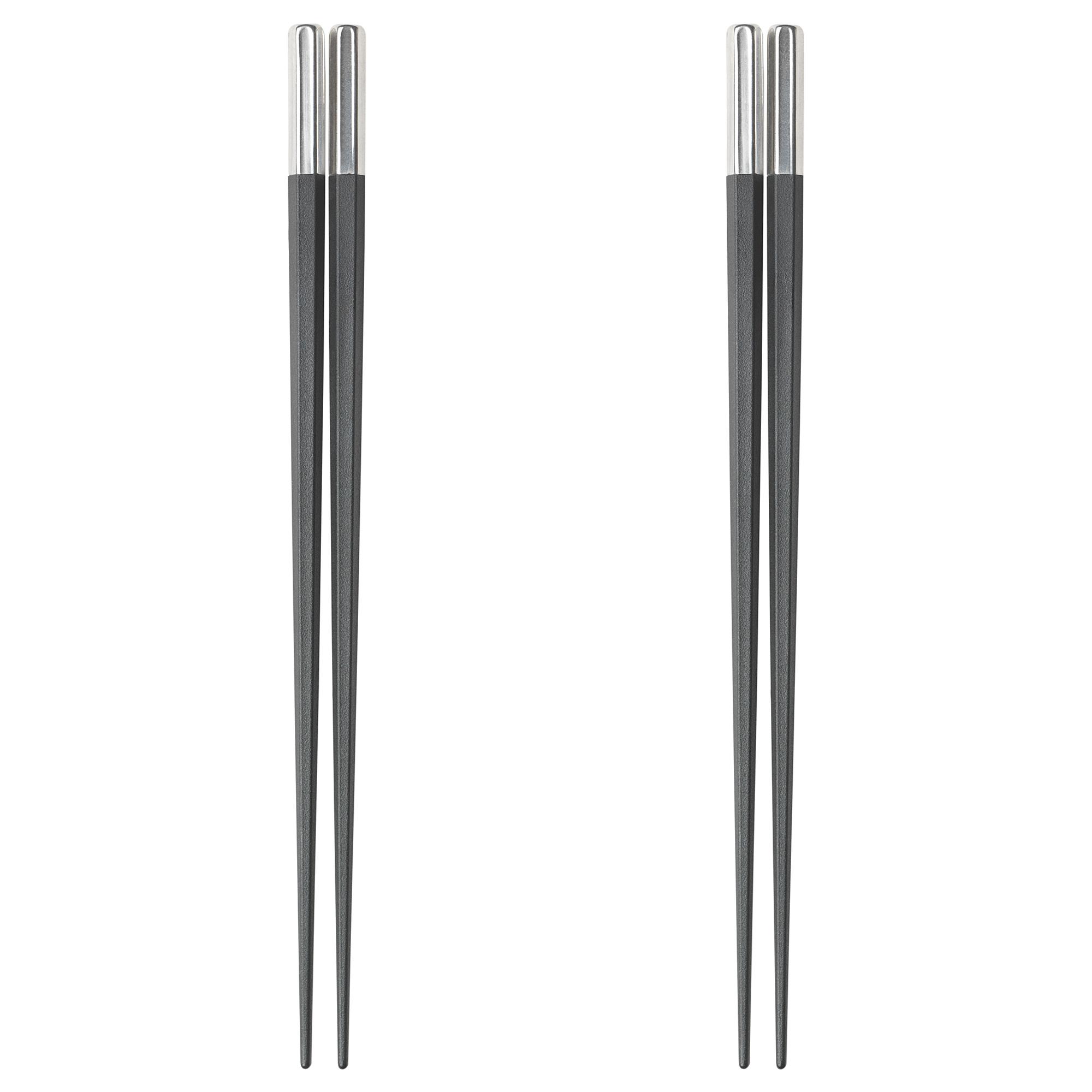 筷子 /2雙, , 黑色 / 塑膠 / 不鏽鋼