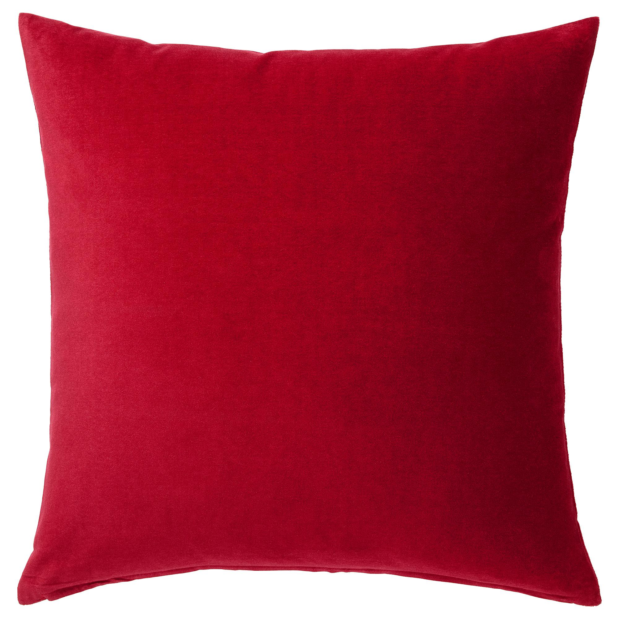 靠枕套, , 50x50 公分, 紅色, 另有其他顏色可選擇