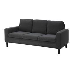 HÄSSELBY 三人座沙發, knisa 深灰色-IKEA