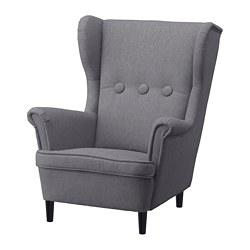 STRANDMON 兒童扶手椅, vissle 灰色-IKEA