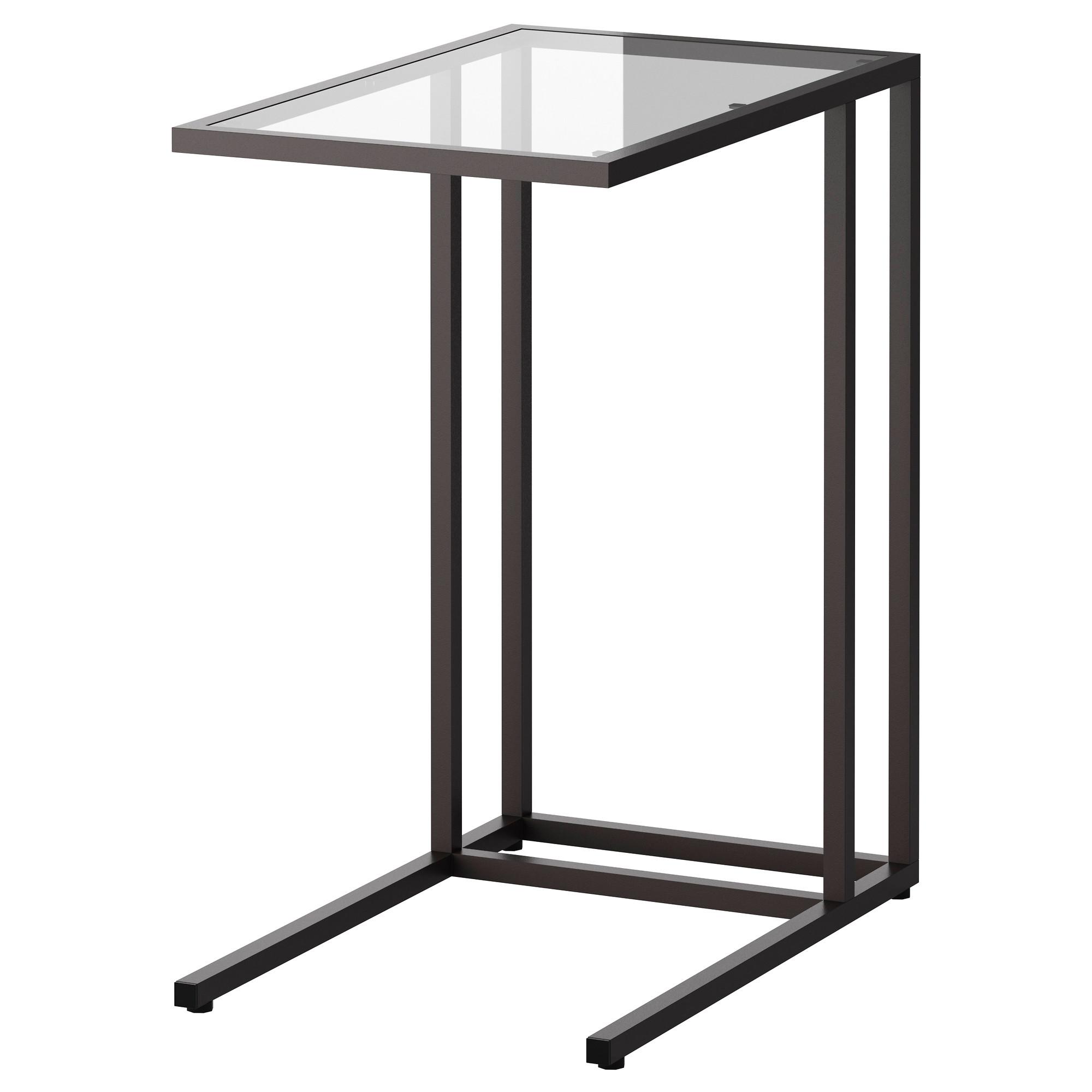 筆記型電腦桌, , 黑棕色 / 玻璃, 35x55x65 公分, 另有白色及其他尺寸可選擇