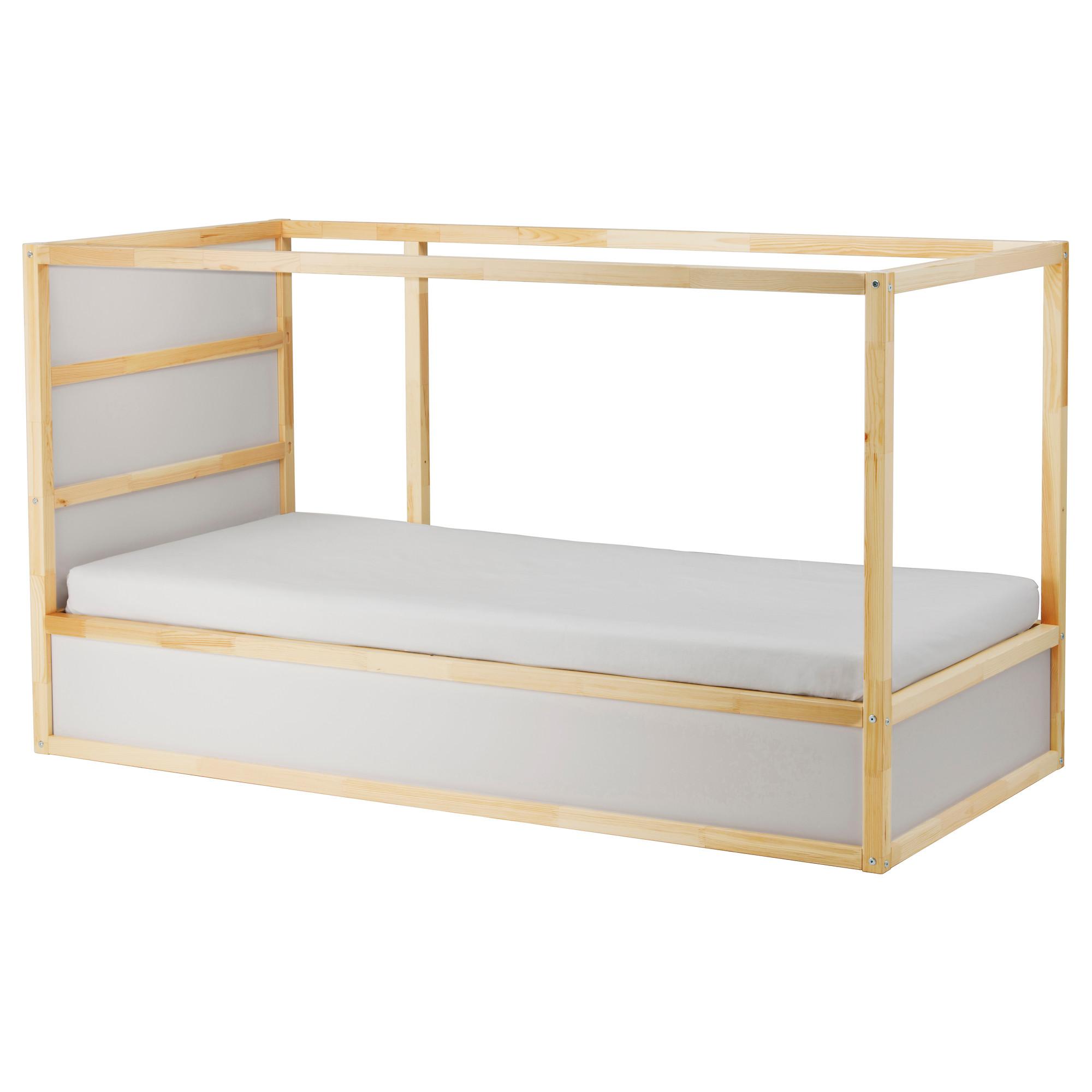 翻轉式兒童床, , 白色 / 松木