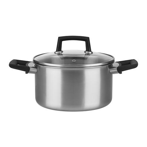 附蓋湯鍋, , 不鏽鋼/玻璃, 3.5公升