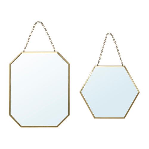 鏡子 /2件組, , 金色
