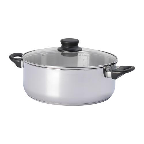 火鍋用湯鍋, , 玻璃/不鏽鋼, 5公升